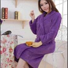 Yontree высокое качество Для женщин халаты осень-зима фланелевые пижамы халат модные теплые халаты цена