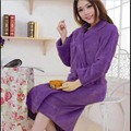 YONTREE Roupões de Banho de Alta Qualidade Wome Outono/inverno Flanela Roupões Vestes Sleepwear Moda Quente H0799