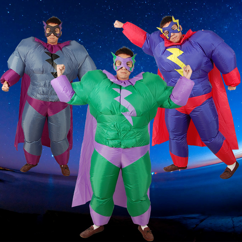 Superman Inflatable Costumes for Adult Men Outfits Inflatable  cosplay Fancy Dress Halloween Christmas Gift