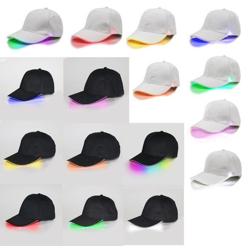 New Design LED Light Up Baseball Caps Glowing Adjustable Hats Perfect for Party Hip-hop Running and More 4