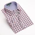 Alta qualidade Dos Homens Regular fit Camisas Xadrez elegante Manga Comprida camisas de vestido Dos Homens de Algodão Tencel Camisa Confortável E Casual