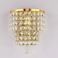 Wholesale Price Crystal Wall Lamp Modern led Wall Light Simple Fashion Bedroom Led Sconce Indoor Sconces Lighting free shipping modern crystal wall lamp g4 wall light for home bedroom fashion fixture indoor lighting sconces decor wl063