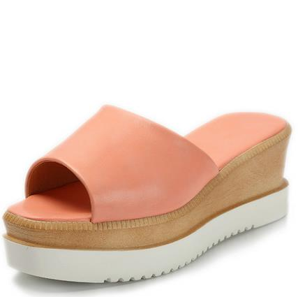 Small yards female cool slippers platform wedges big yards for font b women s b font