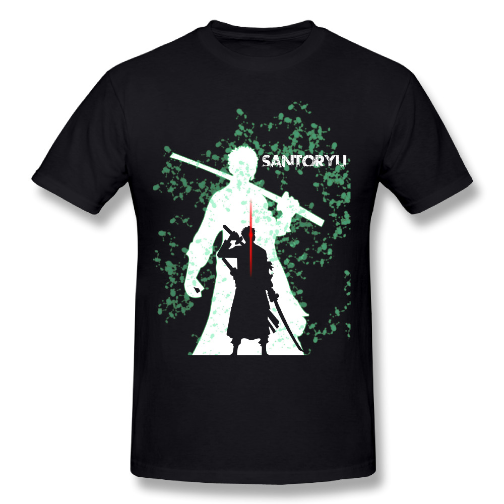 2018 New Arrival Man Roronoa Zoro T-Shirts Round Neck Design Tees ONE Piece Top design T ...