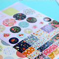 4Pcs/Lot Cheap Kawaii Stickers Creative Back School Stationery Handmade Sticker Diary Stickers Pegatinas Kids Toys DIY Cartoon