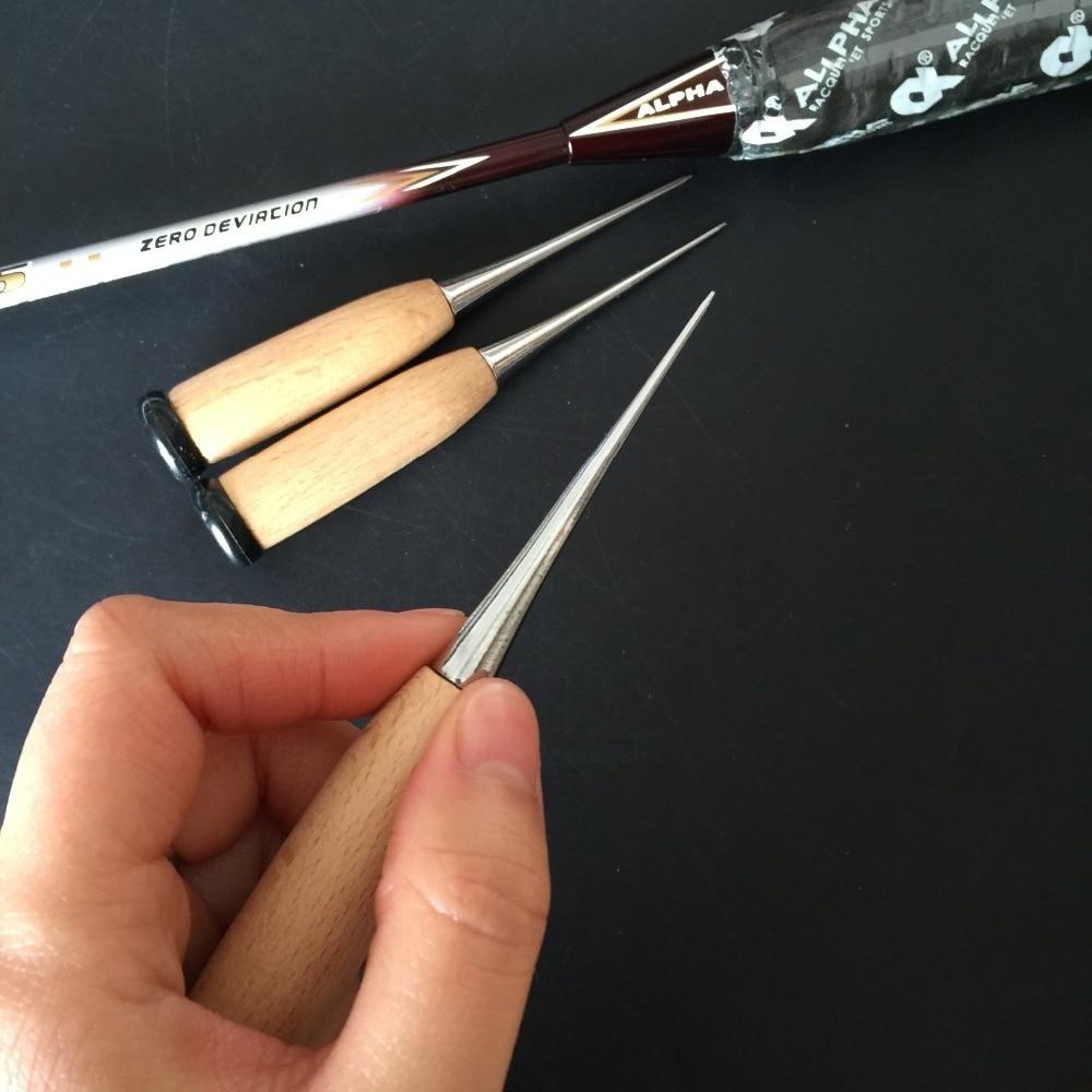3pcs Stringing Straight Awl For Badminton Tennis Racket Stringing Machine Stringing Parts Stringing Tools