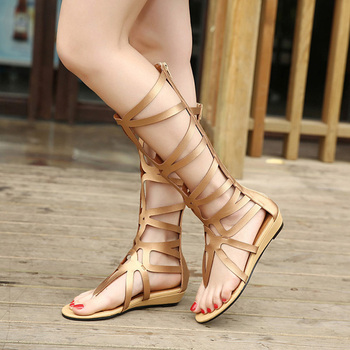 Summer Style Knee High Sandals Shoes Woman 2018 Fashion Women Boots Sandal Shoes Woman Sexy Summer Women Shoes Gladiator Sandals 10