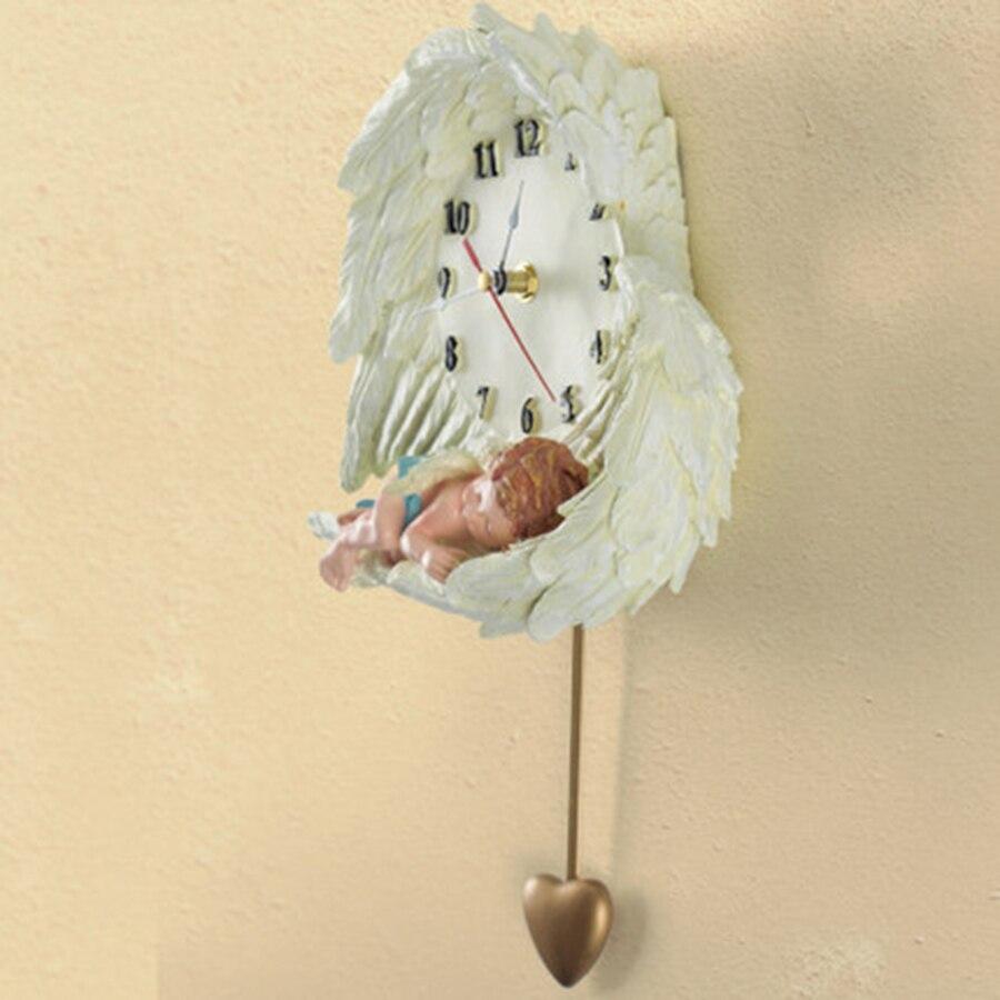 Children Creative Resin Wall Clock Pendulum Art Craft Wall Watch ...