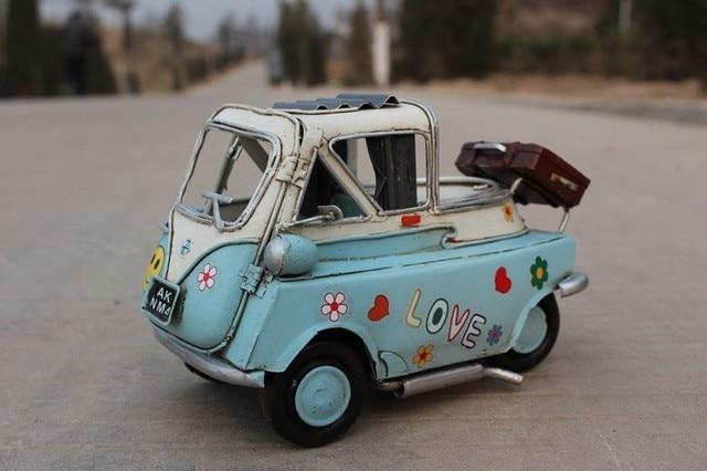 Handmade Antique Isetta 1958 Model Handmade Home Decor Model Kids Car Model Kids Toys Handmade Car
