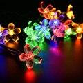 LED Solar Luz de la Secuencia Garland Lotus Bola LED Cadena de Luces de Navidad año Nuevo Holiday Party Decoración de La Boda Lámpara LS07