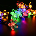 LED Solar String Light Garland Lotus Ball LED String Lights Christmas New year Holiday Party Wedding Decoration Lamp LS07