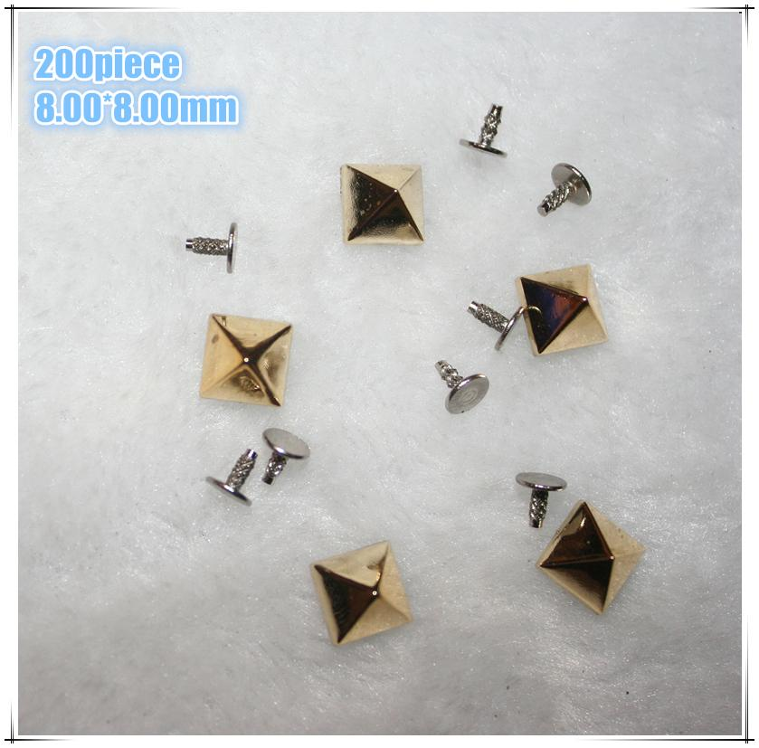 100 sets/pack 2018 New Studs And Spikes Remaches 8*8mm Punk Rock Rivets Shoes Bags & Pyramide Lot Of Color Plastic Screw Rivet
