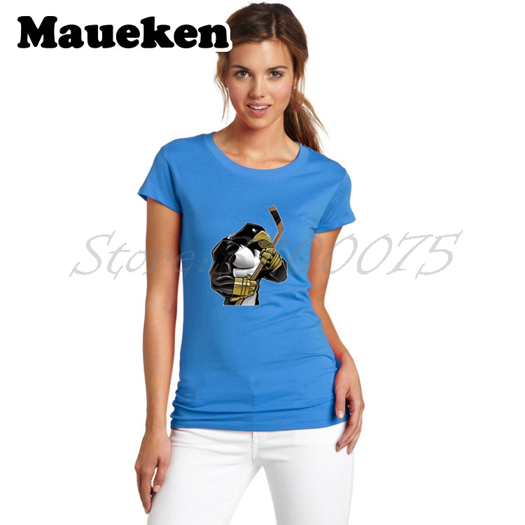 4fda17091ae0 Women champions 2017 Pittsburgh T Shirt Cartoon Mascots BarDown Lady  Clothes Strong Penguins T Shirt Girl tees W17060711-in T-Shirts from Women's  Clothing ...