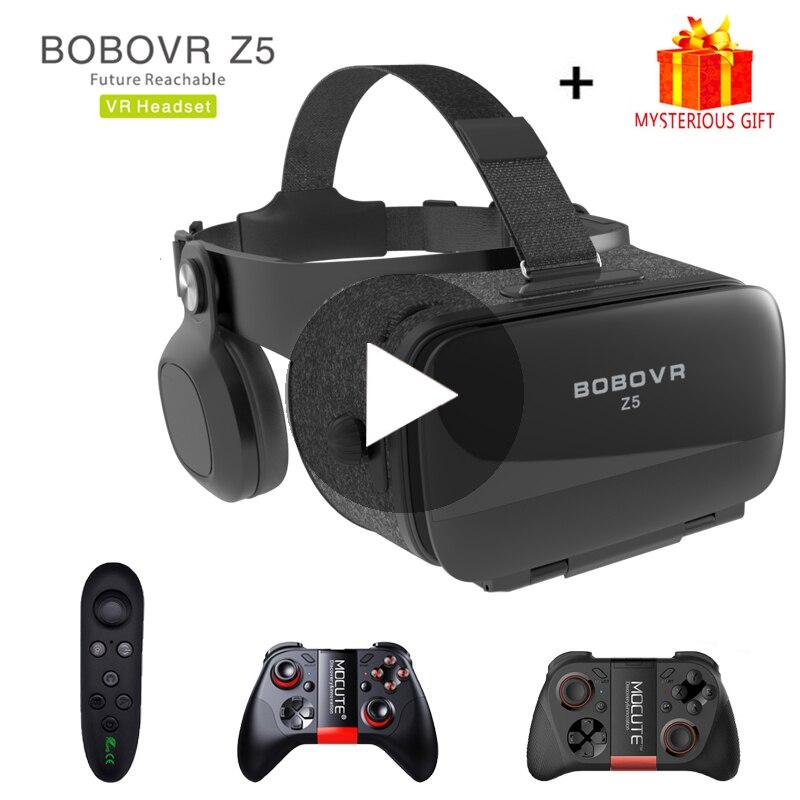 Bobovr Z5 Bobo VR видео Очки виртуальной реальности 3d шлем 3 D для iPhone Android телефона смартфона умные виар игр смарт смартфонов дополненной комплект вр видеоочки с экраном контролерами стекло стерео электронные