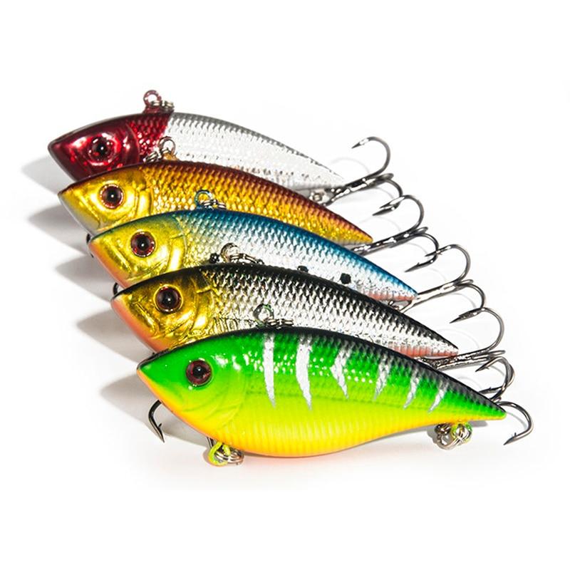 5PCS/Lot Fishing Lure Lipless Trap 7CM 11.3G Crankbait Hard Bait Fresh Water Deep Water Bass Walleye Crappie Fishing Tackle
