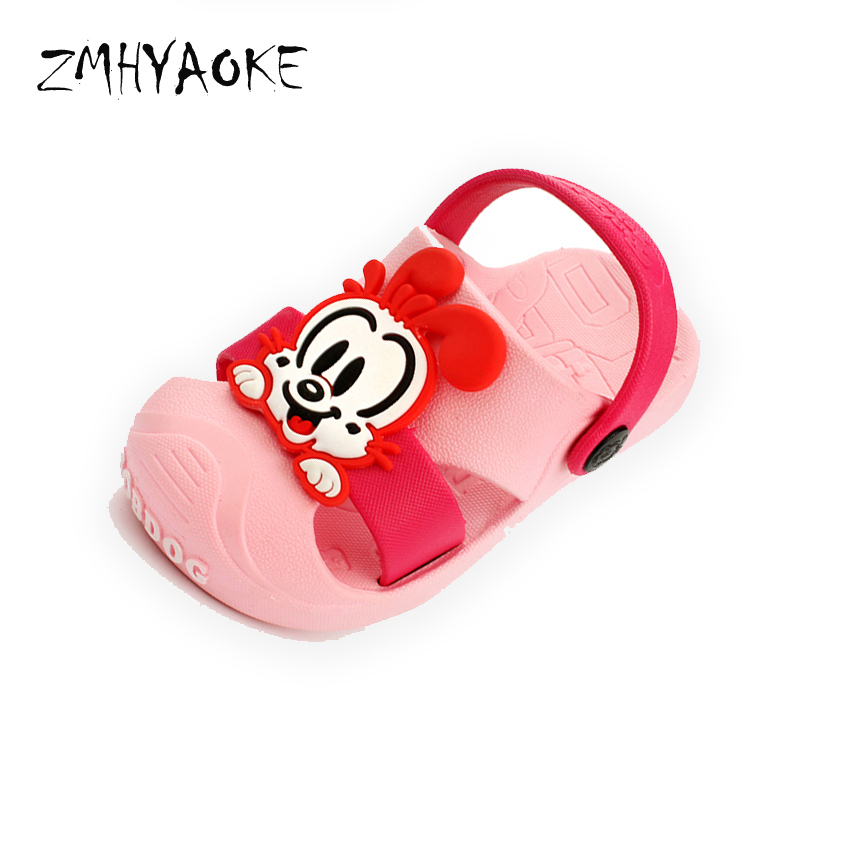 ZMHYAOKE 2018 Kids Sandals for Girls Summer Copodenieve Rubber Child Sandal Slippers Hole Shoes Boys Girl Beach Sandals for Boys