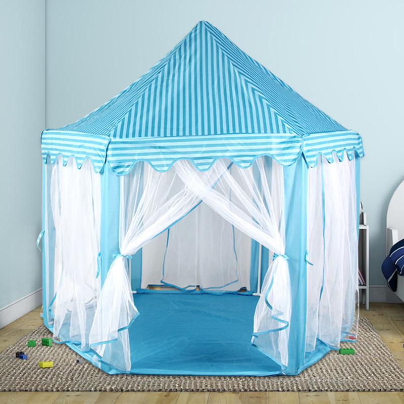 Portable Princess Castle Play Tent Children Activity Fairy House kids Funny Indoor Outdoor Playhouse Beach Tent Baby playing Toy south korea six large angle princess castle tulle children toy house large game room selling mosquito tent puzzle tent toy