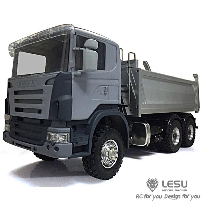 Camion à benne basculante hydraulique Scania 1/14 camion à benne basculante 6X6 à couple élevé modèle électrique LS-20130006 camion RCLESU Tamiya