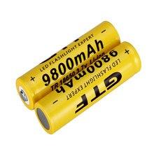 3.7v 9800mah li-ion 18650 empacotado venda gtf 3.7v 9800mah 18650 bateria recarregável li-ion