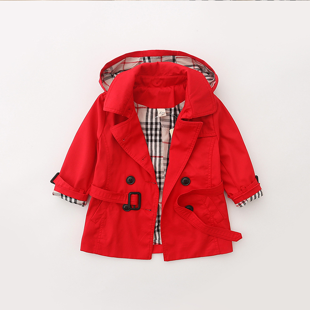 2016 New Spring & Autumn Kids Trench Coat  Double-Breasted Windbreaker Blusa De Frio 6051