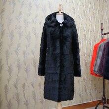 Зимние женские длинные реального норки куртка из натурального меха Пальто Капюшон настраиваемые Женская Осенняя верхняя одежда толстый теплый натуральный меховая одежда
