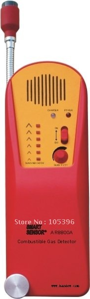AR8800A Combustible Gas Leak Detector Alarm, Exhaust and fuel Methane Propane Explosive 6 LED Alarm  + Fast Free Shipping