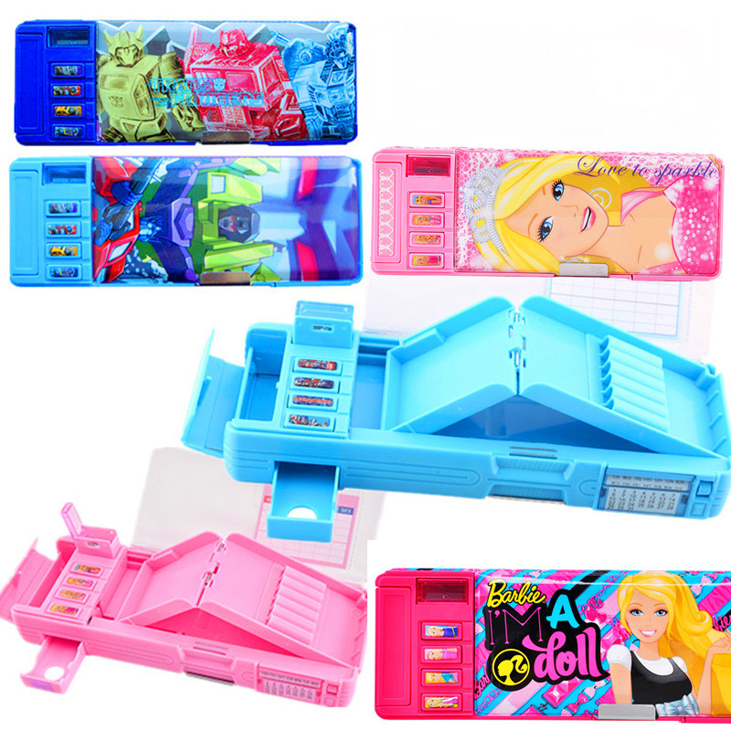 Creative multi - function multi - layer stationery box girl student lovely pencil case multi function green