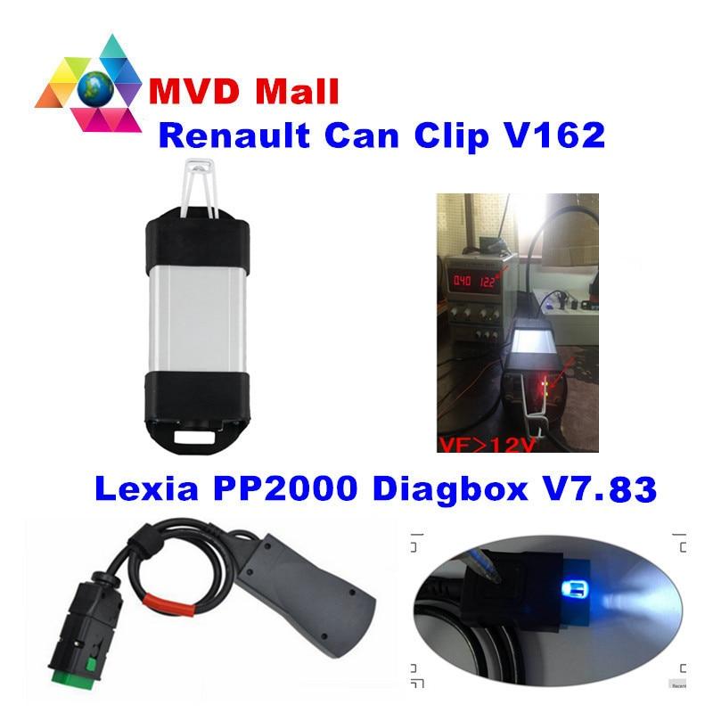 Цена за Новые Renault может закрепить V162 + Lexia3 PP2000 Diagbox V7.83 Lexia 3 Lexia-3 V48 PP2000 V25 OBD2 автомобиля диагностический инструмент DHL Бесплатная доставка