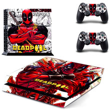 Avengers Deadpool Spiderman Hulk PS4 Skin Sticker Decal Vinyl for Sony Playstation 4 Console and 2 Controllers PS4 Skin Sticker