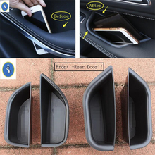 цена на Yimaautotrims Inner Car Door Armrest Container Storage Box Cover Trim For Mercedes-Benz CLA X117 GLA 220 260 X156 2015 - 2018