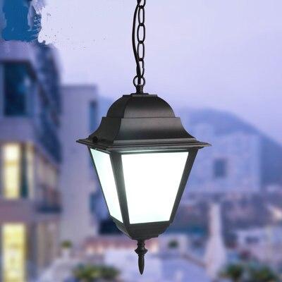 Outdoor Light Waterproof Outdoor LED Pendant Lights Retro Loft Garden Grapevine Outdoor Villa Corridor Pendant Lamps ZA FG252