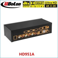 HD951A 4K 2K HDMI To HDMI Extractor Switcher 3x1 DTS AC3 5 1 Digital Audio Decoder