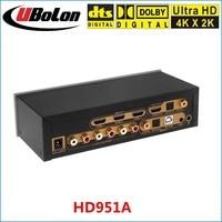 HD951A 4K 2K HDMI To HDMI Extractor Switcher 3x1 DTS AC3 5 1 Digital Audio Decoder