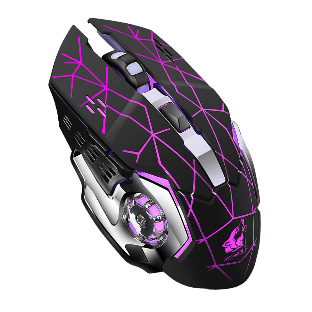 VOBERRY Wireless 2.4GHz Mouse Mute Bluetooth Rechargeable Mice LED Backlit Optical 2400DPI Silent Ergonomic Gamer Mice For PC DD