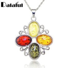 Simple Cross Baltic Simulated Synthetic Honey Elegance Pendant Necklace Women's Fashion Jewelry L00401(China)