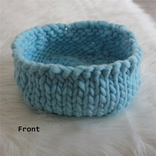 unelmista totta Posing Knitted Thick Yarn Basket Newborn