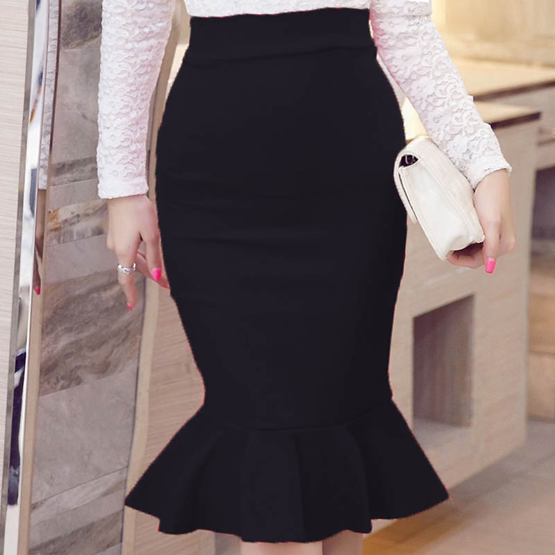 New  Spring Summer Style Vintage Skirt High Waist Work Wear Skirts  Womens Fashion