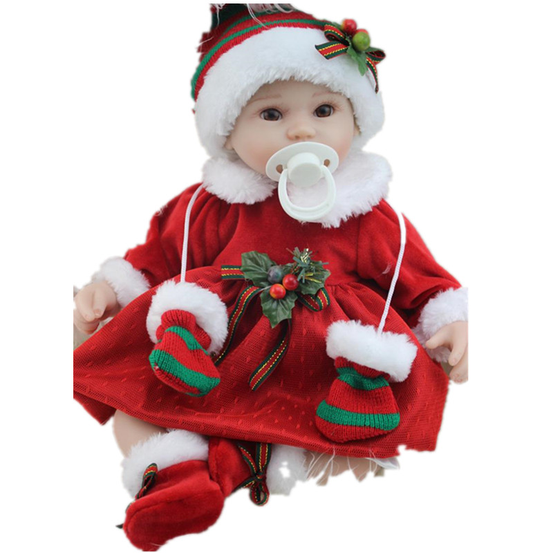 ФОТО 16Inch 42CM Christmas Gifts Lifelike Silicone Baby Bebe Reborn Doll Children Kids Girls Newborn Princess Toys Soft Brinquedos
