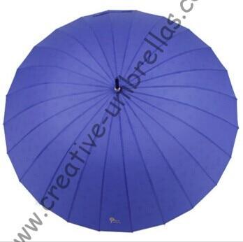 Ordre de mélange autorisé, nouveau style, parapluie droit 24 côtes, parapluies dégradés de couleur, changeant progressivement de couleur, parapluie à nervures cannelées