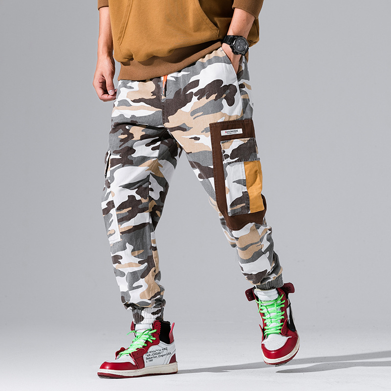 Men Joggers 2018 Casual Pants Men Brand Clothing Autumn Multi Pocket Camouflage Pants Male Trousers 3XL Y819