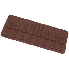 15-Cavity Chess Shaped Ice Chocolate Sugar Cake Silicone Mini Cube Tray