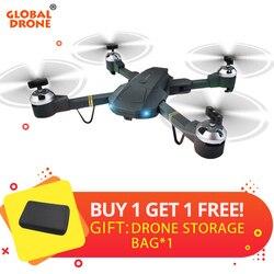 العالمية Drone Selfie Dron طويلة المدى البعيد التحكم Wifi FPV Quadcopter الطائرات بدون طيار مع كاميرا HD Quadrocopter VS XS809HW E58