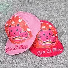 NEW style cartoon Parental cat pattern kids adjustable cap baseball hat sun helmet for girls boys