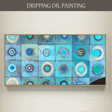 Artist Hand-painted High Quality Contemporary Abstract Canvas Painting Large Blue Oil for Wall Decor