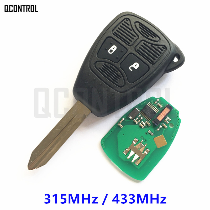 QCONTROL Car Remote Key for Chrysler 200 300 Aspen PT Cruiser Sebring Pacifica Town & Country 315MHz / 433MHz