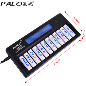 Image 4 - Fast Smart 12 Slots NIMH NICD AA / AAA Smart LCD Battery Charger for 1~12 pcs AA or AAA NiMH NICD rechargeable batteries