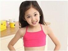 kids bra bra child Solid Color 100% Cotton Underwear Wireless Children's Breathable Bra for Kids Student sport bra