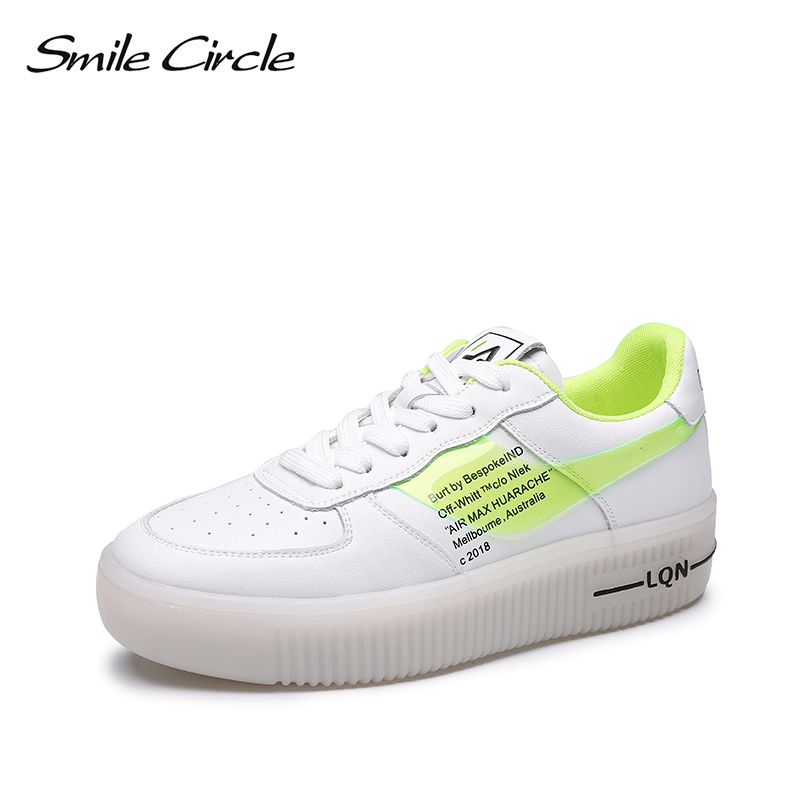 Smile Circle Sneakers For Women Flats Casual Shoes 2019 spring Platform Breathable Sneakers Fashion Outdoor Shoes Girls Smile Circle Sneakers For Women Flats Casual Shoes 2019 spring Platform Breathable Sneakers Fashion Outdoor Shoes Girls