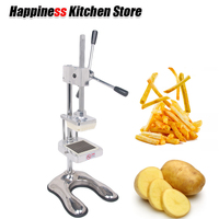 Stainless Steel Manual French Fry Cutters Chopper Fruit Vegetable Slicer Household Kitchen potato chips press Machine 3 blades