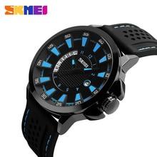 купить SKMEI Men Fashion Watches 30M Waterproof Complete Calendar Quartz Watch Silicone Strap Sport Wristwatches Relogio Masculino 9152 по цене 907.63 рублей